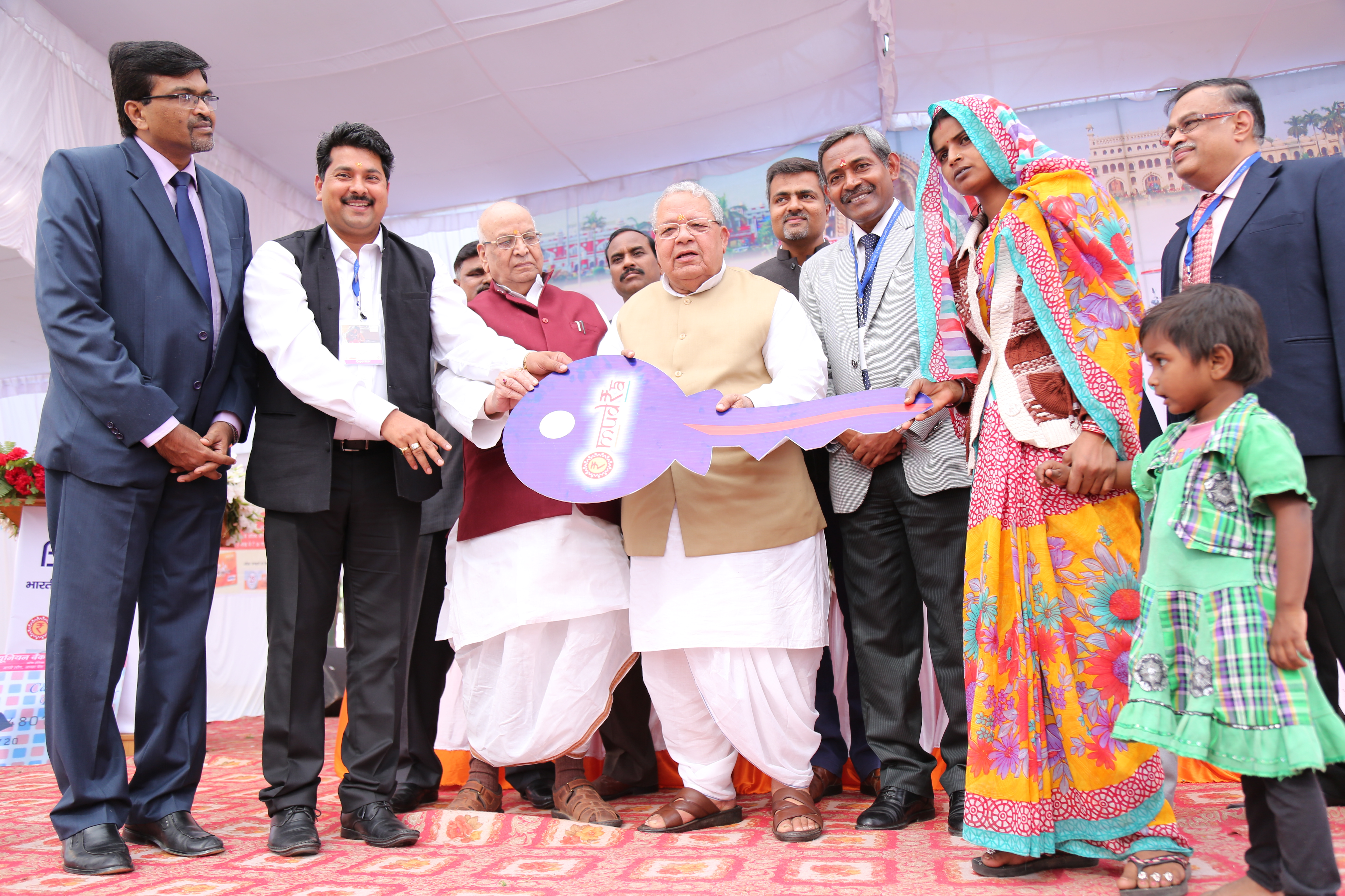 Handing over of Symbolic Key to beneficiaries